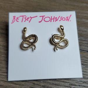 Betsey Johnson Little Snake Earrings